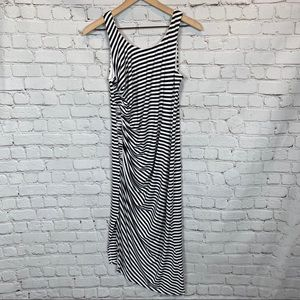 Vince Camuto Lord & Taylor Striped Ruched Dress